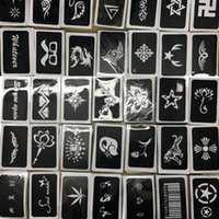 Wholesale 50pcs Tattoo Stencil Drawing For Painting Airbrush Tattoo Stencils For Tattoos Temporary Henna Templates Stickers