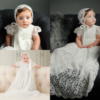Wholesale Cheap Christening Dresses Full Lace A line Baptism Gown For Bow Sash Kids First Communication Dress