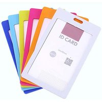 Wholesale 10 High quality Business ID Badge Card Vertical Holders with Neck Strap Lanyard Office School Supplies