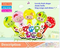 battery song - baby toys lovely fruit shape kids shake bells ring songs within button battery and by DHL express