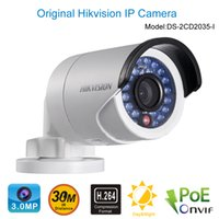 Wholesale HIKVISION MP MINI POE IP Camera H Onvif Bullet Outdoor DS CD2035 I CCTV Surveillance Camera