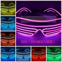 Wholesale 30PCS MMA86 Manufacturers Selling Special Offer LED Luminescent El Cold Light Emitting Cold Light Shutter Glasses Cheer Tools