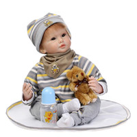 baby doll companies - Lovely inch Baby Reborn Dolls Soft Silicone Bebe Reborn Handmade Realistic Kids Boys Doll Toys Babies Company Brinquedos