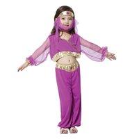 Wholesale Children s Costume Party Clothing Halloween Characteristic Children s National Costume Arabia Princess Dress Purple M
