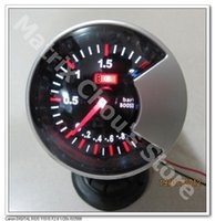 Wholesale INCH MM Turbo Boost Gauge Black Smoke Style Face Car Gauge Car Meter Include Sensor and Wires