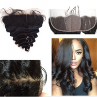 asian natural hair - Silk Base Frontal with Baby Hair Asian Human Hair Loose Wave A Silk Lace Frontal