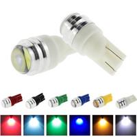 T10 W5W LED Super brillant avec projecteur Objectif Blanc Rouge Glace Bleu Vert Jaune Plaque d'immatriculation Ampoule