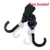 Wholesale New Arrival Pram Pushchair Stroller Side Hook Baby Handle Shopping Bag Stroller Accessories Rotatable Hook Two Loaded XL B07