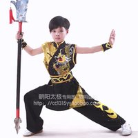 Wholesale Chinese Clothes For Boys - Customize Chinese wushu uniform Kungfu clothing taolu outfit Martial arts outfit nanquan garment for men women boy girl children kids adults
