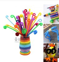 bar top material - 100PIECE hair root twisted bar color top educational DIY toys Handmade material