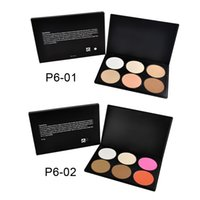 Wholesale Professional Colors Blush Trimming Set Makeup Contour Blusher Face Powder Palette Foundation Make up Palette Comestics Concealer