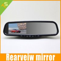 Wholesale 4 inch Car Rearview Mirror Monitor with FHD1080 P DVR Recorder Camera Dual Video Input Auto Adjust Brightness Rear Camera Kit