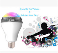 Wholesale SmartBulb Wireless Bluetooth Audio Speakers LED RGB Light Music Bulb Lamp Color Changing via WiFi App Control