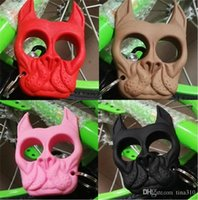 Wholesale 60pcs Brutus Self Defense Key Chain Dog Skull Shaped Personal Security Women Self defense Keychains Keychain factory Direct key ring4144