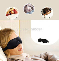 Wholesale 3D Sponge Eye Mask Shade Comfort Winker Patches Silk Blinder Shield Travel Sleeping Aid