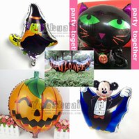 Wholesale 5 different design Happy halloween balloons globos party decoration for halloween party baloons inflatable toys ballon helium