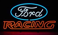 american auto glass - FORD AMERICAN AUTO FORD RACING Real Glass Neon Light Sign Home Beer Bar Pub Recreation Room Game Room Windows Garage Wall Sign