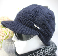 Wholesale 2016 Men s Warm Winter Wool Hat Men s Outdoor Knit Sports Beanies Skullies Thick Fashion Winter Knitting Caps ZJ