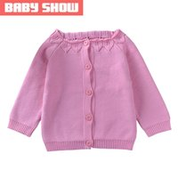 Wholesale New Autumn Baby Girls Sweaters Yrs Girls Cardigan Children s Clothing Cotton High quality Brand Baby Girl Sweater
