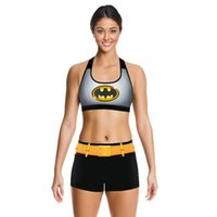 batman dark knight suit - Batman Camisoles The Dark Knight Tanks Shirts Running Singlet Vest Digital Printing Exercise gym suit vest Shorts Piece suit with a chest