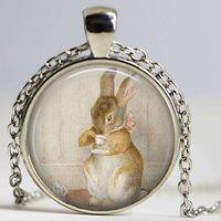beatrix potter - 1pcs Fashion Peter Rabit Beatrix Potter Logo Pendant Necklace Storybook Fantasy Vintage Necklace Women Jewelry Gift