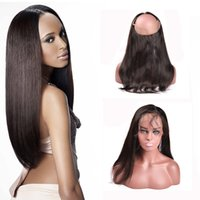 band lace front wig - 360 Lace Frontal Full Lace Band Frontal Peruvian Virgin Hair Straight Natural Hairline Lace Frontal Closure With Baby Hair