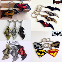 mens jewelry lot - In business styles Movie Marvel Batman V Superman Dawn of Justice Men Keychain Key Chain Mens Fashion Jewelry Llaveros