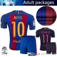 barcelona fashion - Home Barcelona Soccer jerseys Set A INIESTA SUITEZ MESSI NEYMAR JR Men s Set Barcelona jerseys kit Thai Quality