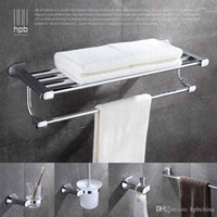 Wholesale Han Pai Brass Luxury Bathroom Accessories Towel Rack Ring Holder Toothbrush Cup Holder Acessorios de banheiro Set HP7724