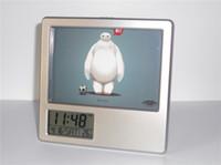 big multi photo frames - New Big Hero Baymax Creative Digital Alarm Clock Multi function Desk Clock Calendar Pen Holder Photo Frame Alarm Clock