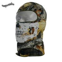 Wholesale Face Protection Airsoft Paintball Shooting Gear Full Face Airsoft Mask Tactical Ghost Skull Bionic Camouflage Hood