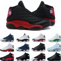 Wholesale 2016 high quality Retro XIII Mens Basketball Shoes bred flints grey toe He Got Game hologram barons sneakers athletic shoes