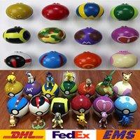 abs plastic dolls - 500Pcs New Poke Go Elf Ball Doll Toys Pikachu Children Kids Cartoon Cosplay Action Movie Games Figures PVC Plastic Toys XMAS Gifts WX T34