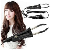Wholesale Black Adjustable Temperature Hair Iron Hair Extension Machine