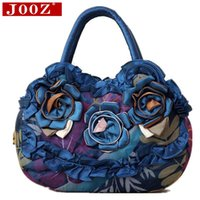 Wholesale JOOZ Casual canvas new mom bag small lace Flowers women handbags ladies bag women s bags Women Messenger Bags