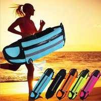 Wholesale Waterproof Women Sports Bag For inch Cell Phone Fitness Men Waist Bags For Ipone Samsung Huawei Xiaomi CC