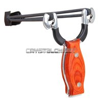 Wholesale AXE Pro Wood Handle Stainless Steel Slingshot Outdoor Hunting Catapult Tomahawk
