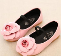 Wholesale Princess Shoes With Flower Nude Shoes Leather Shoes Flat And Comfortable Soft Sole Girls Shoes TX2 zcc