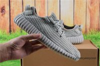 Cheap Adidas Yeezy Boots 350 Men Women Running Shoes Yeezys 350 Boost Cheap 2016 Hot Sale Sports Shoes Moonrock Size 5-11.5 With Box