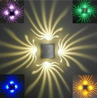 Cheap AC100-240V 4w Home Decoration Modern Aluminum LED Wall Lights KTV Christmas Decorate Lamps LED indoor Wall Lamp Luminaire
