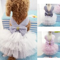 Dresses Spring/Summer Chirstmas Small Dog Clothes Pet Dog Puppy Lace Tutu Dress Lace Skirt Cat Princess Apparel Free Shipping
