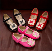 Wholesale Ug new spring Chen arrival girls princess shoes for girls children single shoes with rhinestones bright ue