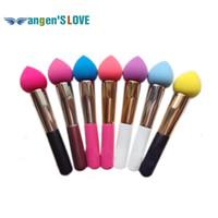 Wholesale Colorful Makeup Brush Puff NON LATEX COTTON Makeup Sponge Blender Blending Cotton Powder Puff Dry and Wet Brush Puff