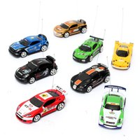 Wholesale Mini Coke Can RC Radio Remote Control Micro Racing Car Speed Hobby Vehicle Birthday Gift Free Shippin