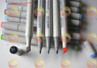 barrel marker - brand new Color Finecolour Sketch Twin Marker Set alcohol based ink junior marker pens on a budget double tips round barrel hotsale
