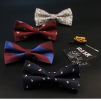 Cheap Bow Tie fashion accessories bowtie men Best 11 6 print striped business party