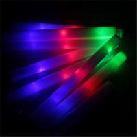 Wholesale Foam Glow sticks NEW colorful light sponge sticks electronic flashing toys luminous bar decoration and cheering toy