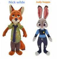 Unisex big bunny - 30PC zootopia figures plush dolls cm Bunny Rabbit Judy Hopps Fox Nick Wilde Movie Kids christmas gift