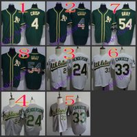 best coco - oakland athletics coco crisp Baseball Cool Base Jersey Best quality Authentic Jerseys Embroidery Logo Size M XL Mix Order