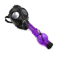 Cheap New smoking pipes Gas Mask Water Pipes Sealed Acrylic Hookah Pipe - Bong - Filter Smoking Pipe Free Shipping